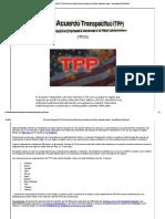 El Acuerdo Transpacífico (TPP)