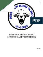 cadet handbook 18-19
