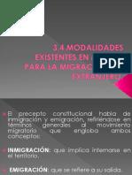 Modalidades Existentes en Mexico Par La Migracion Del Extranjero