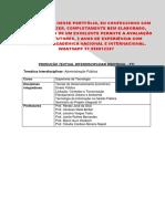 Portfolio UNOPAR CST 3 e 4 -Orçamento Publico - Encomende Aqui 31 996812207