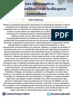 Boletín Asamblea Nacional Migración