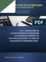 Evaluación de Inversiones