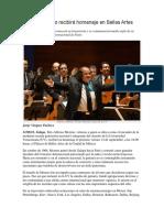 Alfonso Moreno Recibirá Homenaje en Bellas Artes