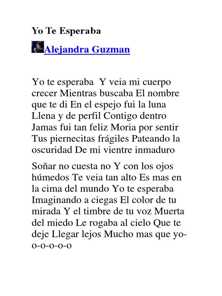 Alejandra Guzman Yo Te Esperaba Letra