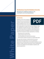 WP Database Security Business Case