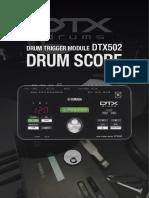 DTX_502 Drum Score