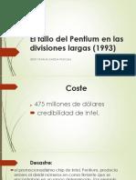 El Fallo Del Pentium en Las Divisiones Largas