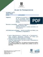 Actividad Transparencia