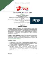 BO-L-N755 - LEY DE GESTIÓN INTEGRAL DE RESIDUOS