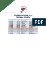 Calendario Lvbp 18-19
