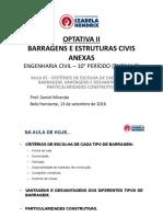 Optativa II Barragens Civil T2!02!2016 AULA 05