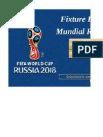 Fixture Mundial Rusia 2018 Peru