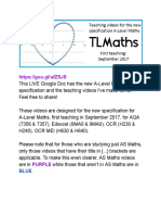 A-Level Maths Specification