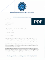 Springfield Mayor Domenic J. Sarno support Letter for CRRC