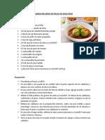 Calabaza Rellenas de Pollo en Salsa Roja