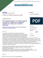 De La Medicina Popular a La Medicina Basada en Evidencia_ Estado de La Investigación Científica en El Campo de La Medicina Tradicional