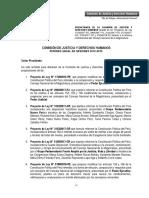 PL 3159. Reforma del Consejo Nacional de la Magistratura | Comisión de Justicia