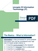 Basic Concepts of Information Technology (IT)