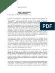 Carta de la Comisión de Paz Del Senado