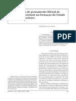 A Influência Da Doutrina Liberal de Benjamin Constant Na Formação Do Estado Imperial Brasileiro - Copia
