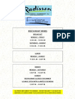 RestaurantMenu PDF