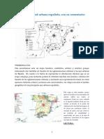 Mapa de La Red Urbana Espaniola