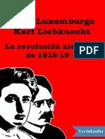 La revolucion alemana - Rosa Luxemburgo.pdf