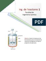Calculo de la conversion maxima en un reactor por lotes en aspen plus
