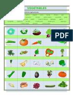 Vegetables Vocab