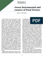 1. Relation Between Instrumental and Sensory Measures of Food Texture