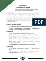 CASI - Edital 01 Processo Seletivo