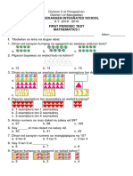 First Periodic Test Math