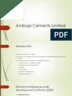 Ambuja Cements Limited CSR.pptx