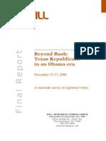 Beyond Bush Texas Republicans in An Obama Era