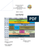 Class Program Sample