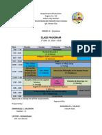 Class Program Sample