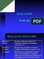 02 WAISIII Aplicación Calificación