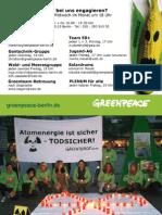 Postkarte - Greenpeace Berlin