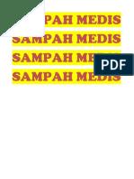 Sampah Medis Label