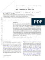 Opacity, variability and kinematics of AGN jets