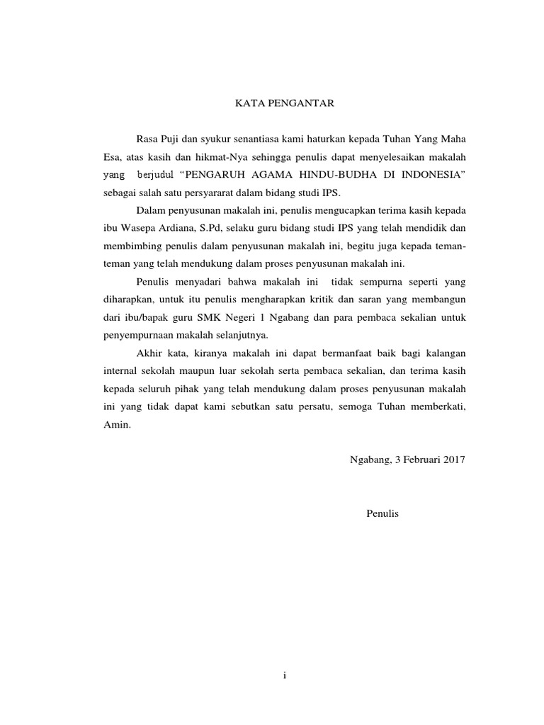 Makalah Pengaruh Hindu Budha Di Indonesia