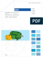 WEG Ieee 841 2001 Nema Premium Efficiency Motors With Inproseal Usa841 Brochure English