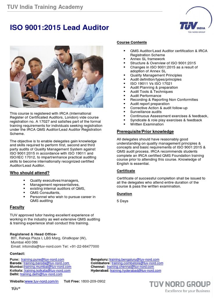 ISO_9001_Lead_Auditor pdf | Audit | Quality Management