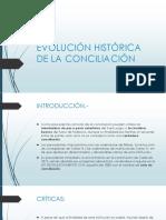 Evolución Histórica de La Conciliación