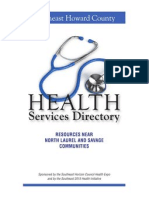 Health Services Directory for Southeast Howard County, Maryland 2010