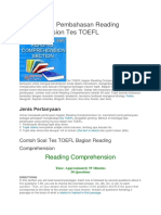 Contoh Soal Pembahasan Reading Comprehension Tes TOEFL.docx