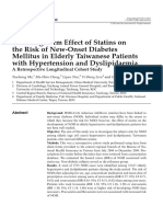 (1) 2012 Ma the Long-Term Effect of Statins on the Risk of New-Onset Diabetes Mellitus in Elderly