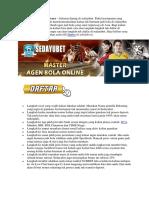 Daftar Akun Judi Bola Di Agen Bola Terpercaya Deposit Rendah.docx