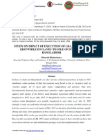 STUDY ON IMPACT OF EXECUTION OF LBA, 2015 ON THE ERSTWHILE ENCLAVES' PEOPLE OF INDIA AND BANGLADESH