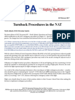 17SAB02 - Turnback Procedures in the NAT